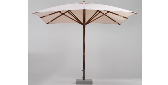 Square umbrella. Teakwood