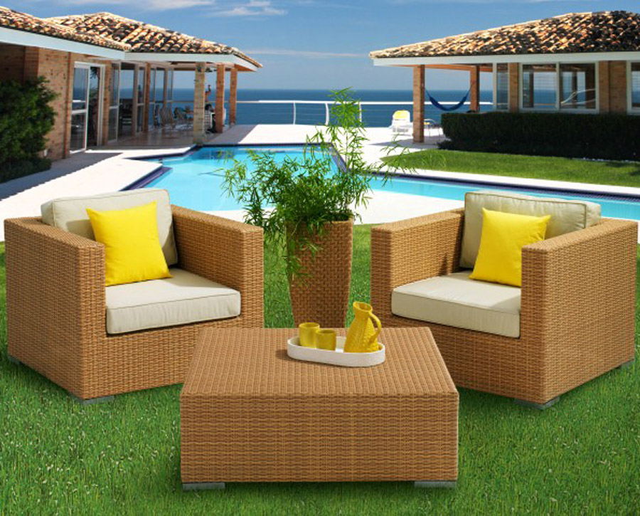 outdoor furniture in dubai for gardens in teak and rattan
