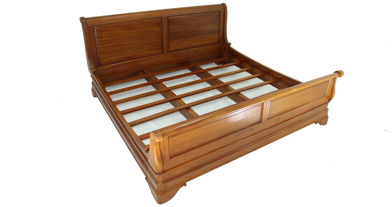Bedroom Furniture Dubai solid wood sleigh bed | quality bedroom furniture dubai