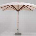 Teak wood umbrella, square