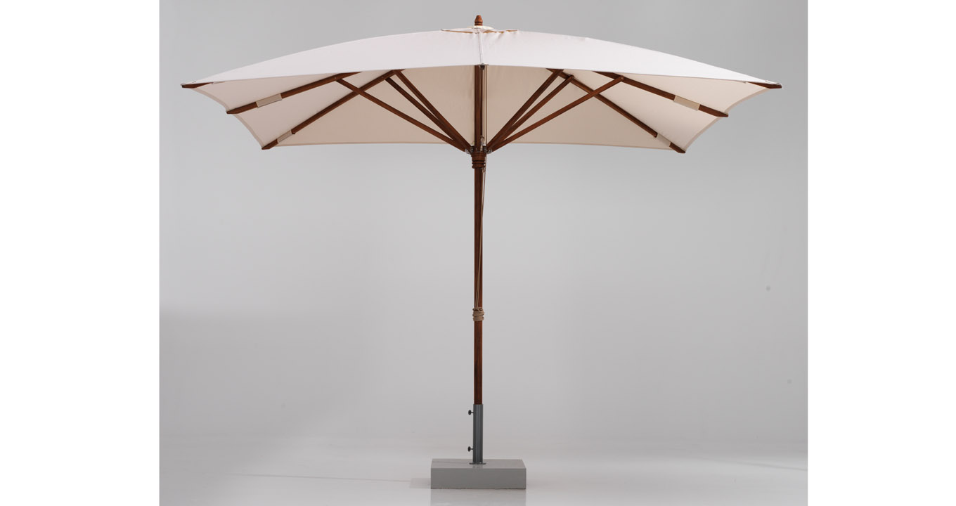 Teak wood umbrella, square