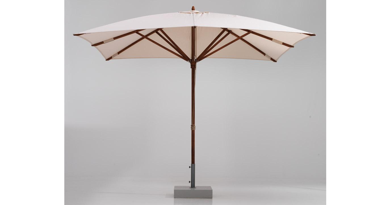 Teak wood umbrella dubai terrace and garden for Terrace umbrellas