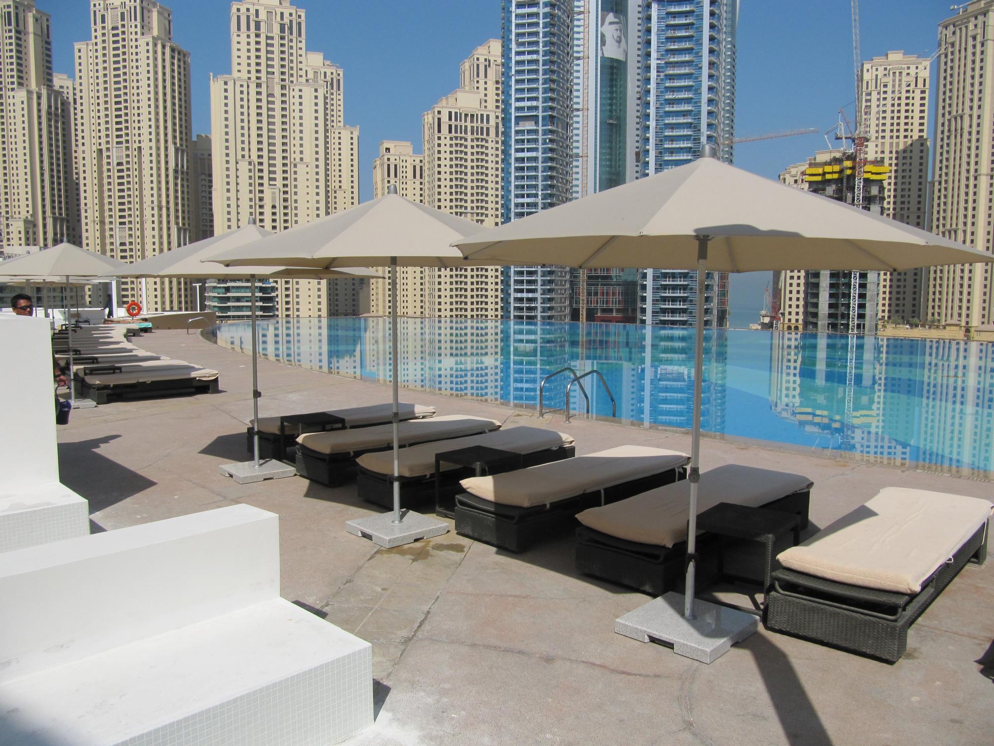 Hotel restaurant furniture dubai loungers sofa umbrellas