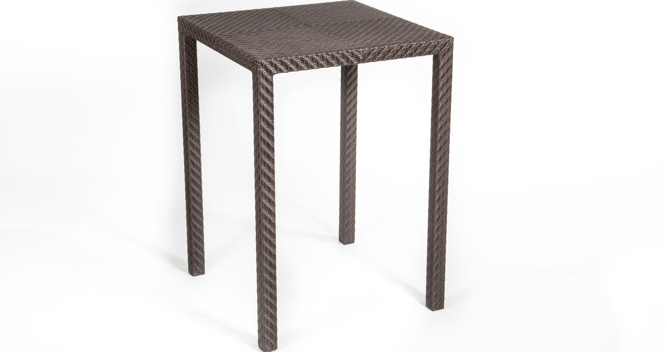 Ebony Rattan Bar Table