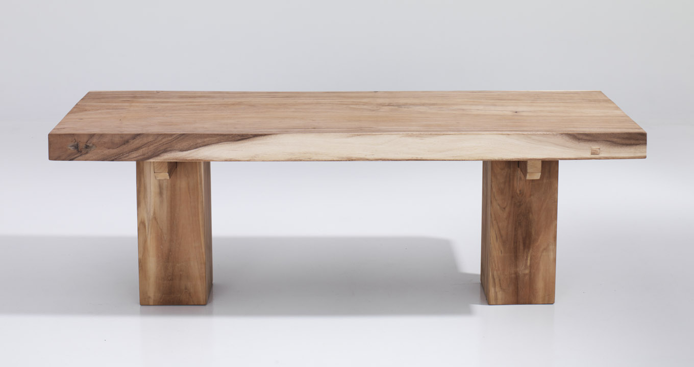 Suar Wood Table With Thick Wood Top The Warehouse Dubai