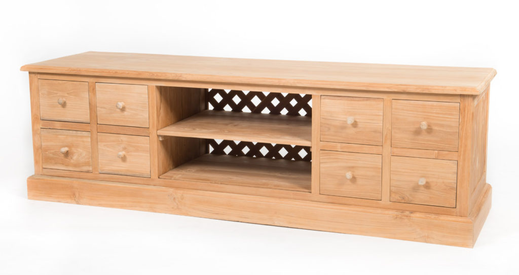 Eight drawer entertainment unit