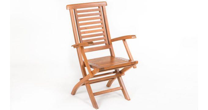 outdoor folding armchair