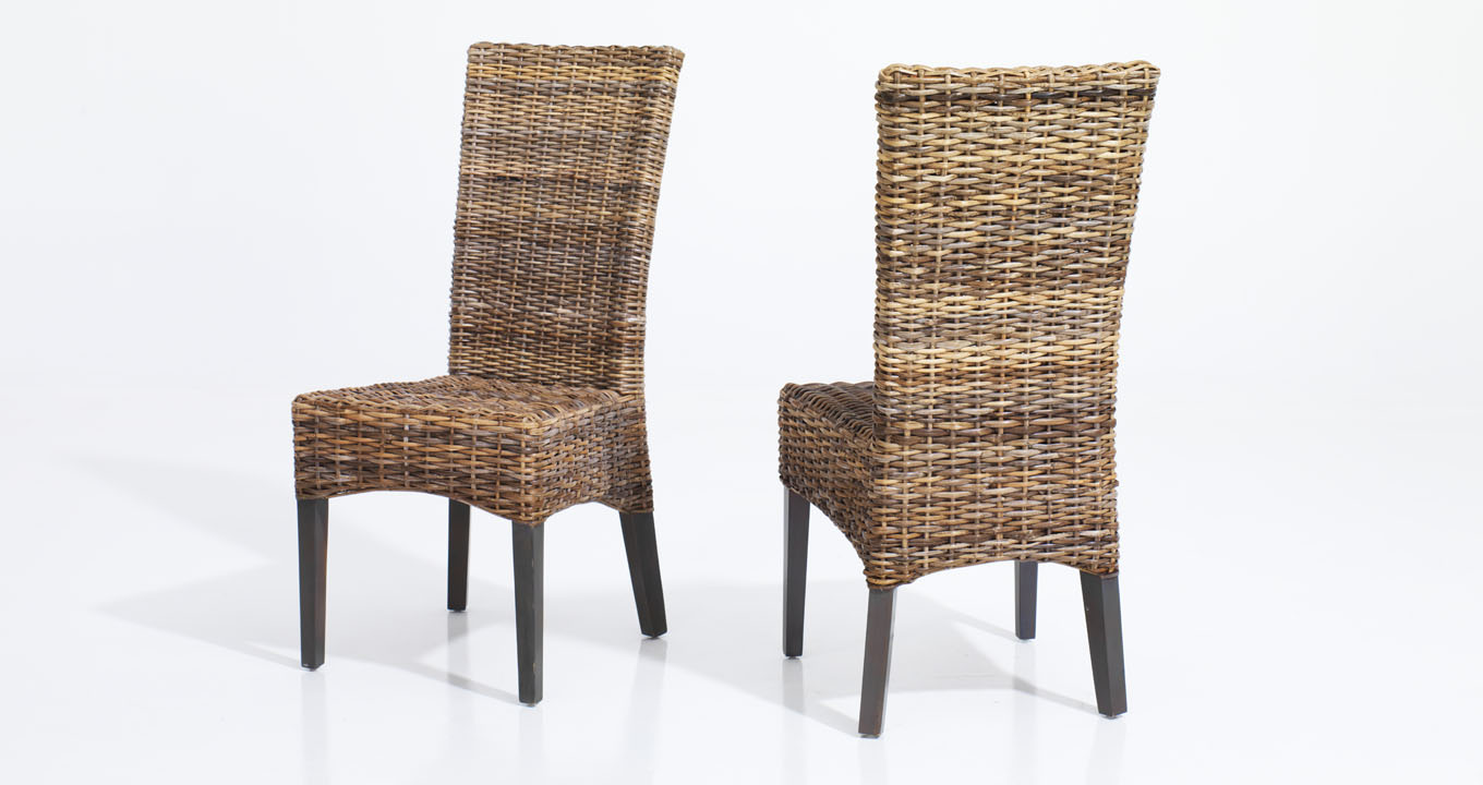 rattan dining chair comfortable rattan dining chair in indoor rattan ...
