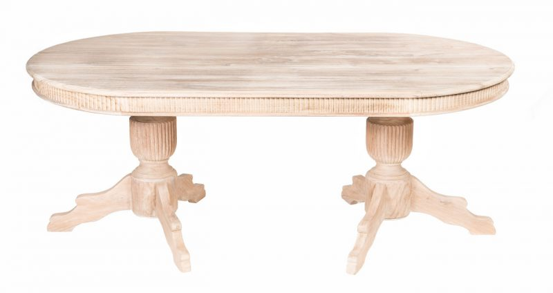 Oval Table with two legs