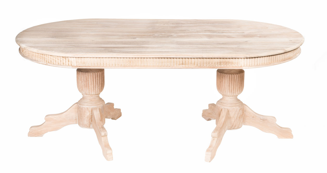 Oval Wood Table Indoor The Warehouse