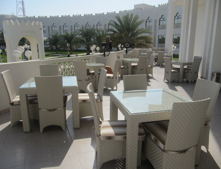 Liwa Hotel outdoor furniture