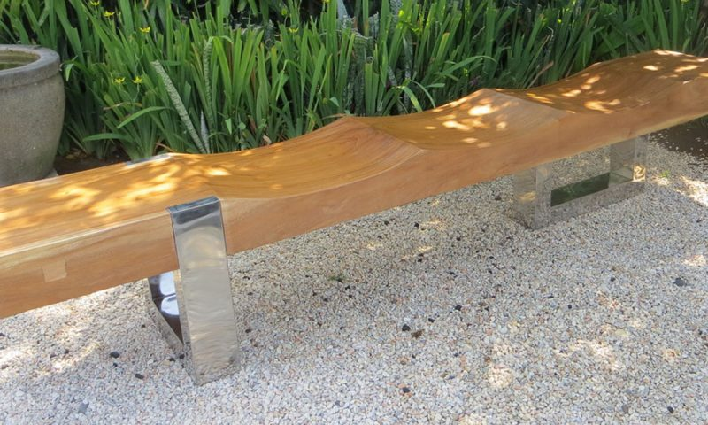 Suar Narra Bench with Stainless Steel