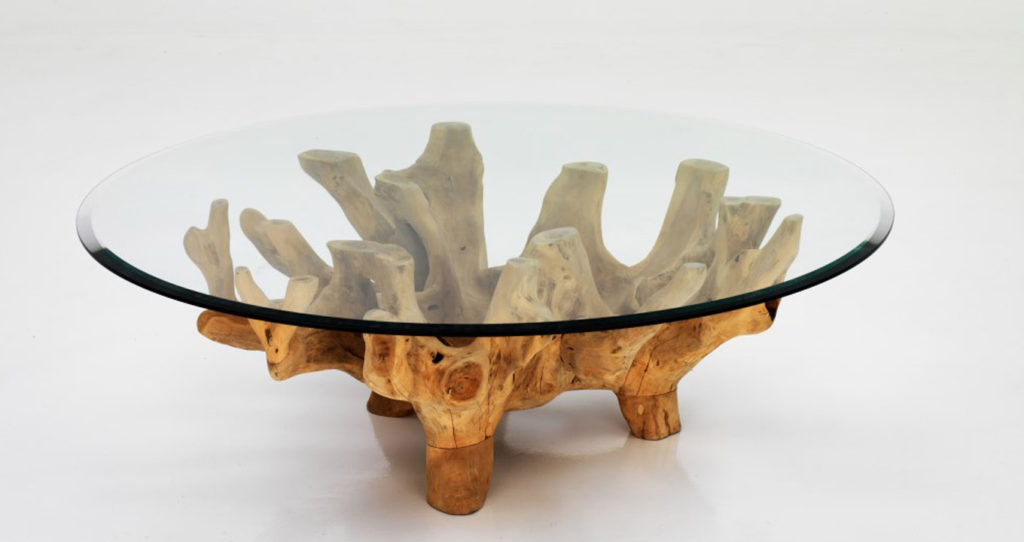 Root table in teakwood