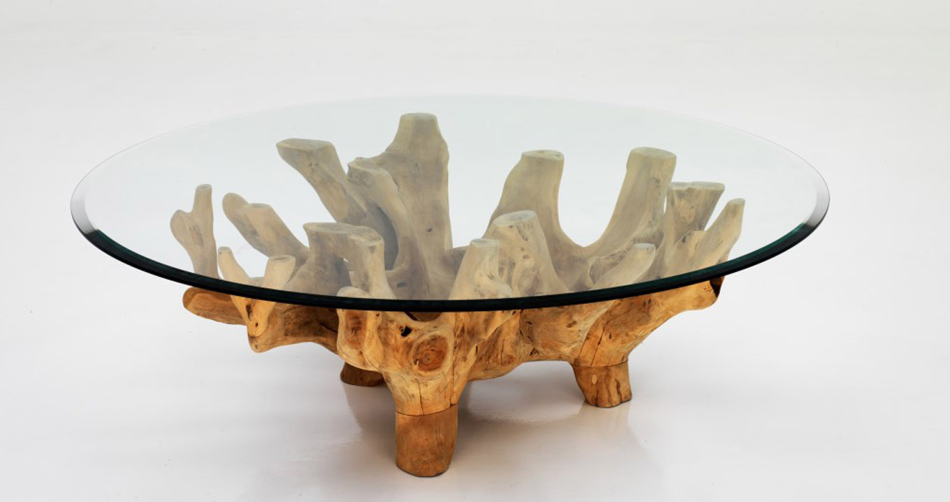 Solid Wood Root Table Available At The Warehouse Dubai