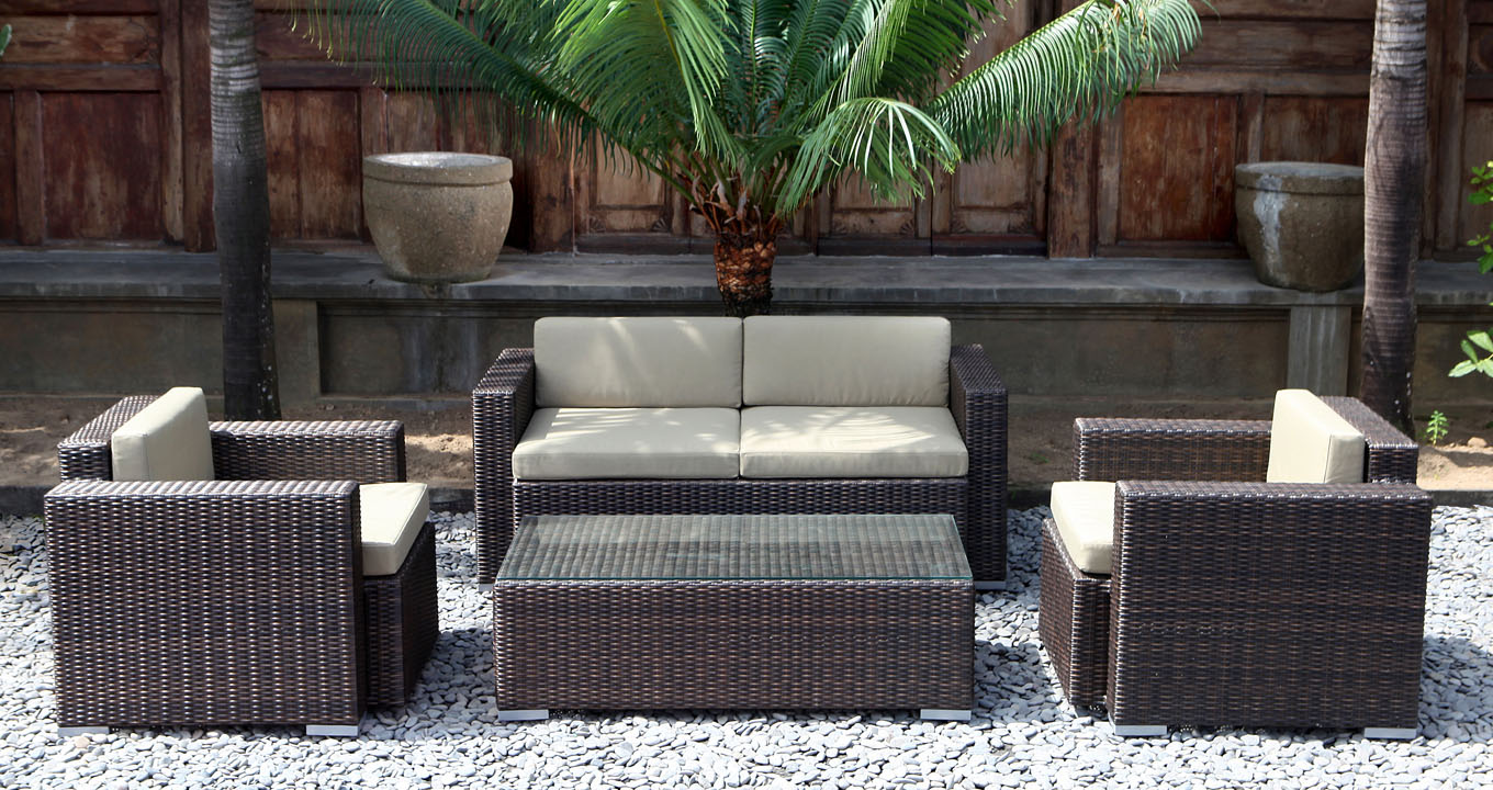 Solo Synthetic Rattan Sofa Set The Warehouse