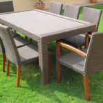 Teak and Synthetic set