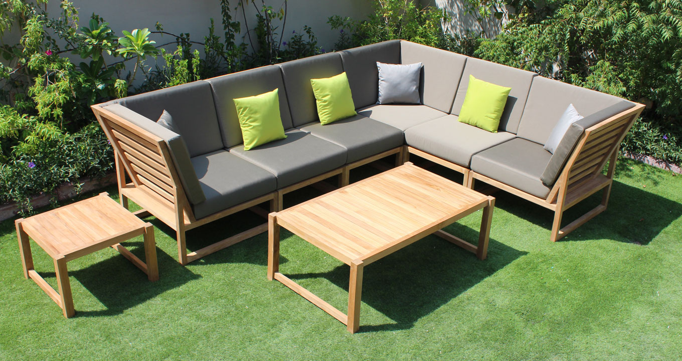 Victoria outdoor wood lounge set  The Warehouse DubaiFalaknaz The