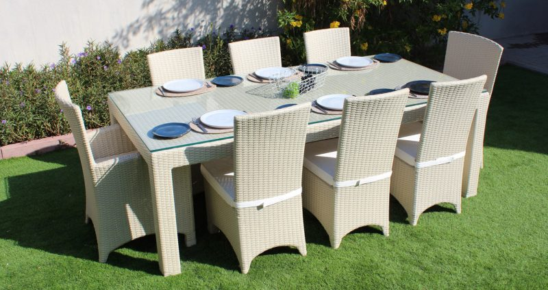 Outdoor furniture in dubai for gardens teak and rattan