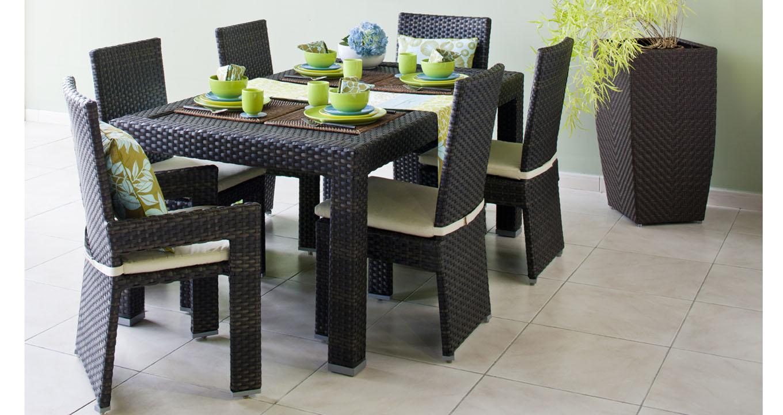 Stockholm rattan dining set quality garden furniture dubai