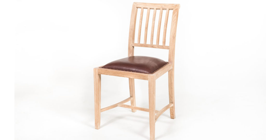 Paola chair with leather seat