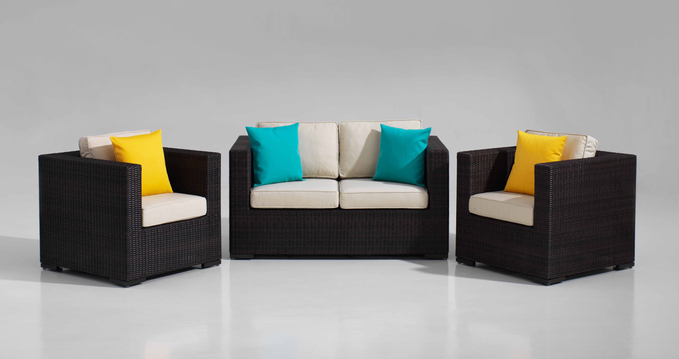 Reno Sofa Set 2 Seater And 1 Seater In Rattan Quality Fibre