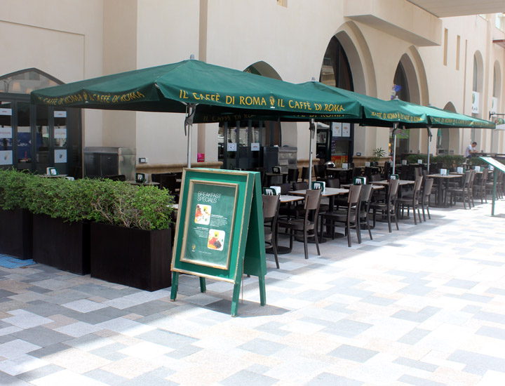 Cafe De Roma Umbrellas JBR