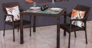 relax rattan dining set