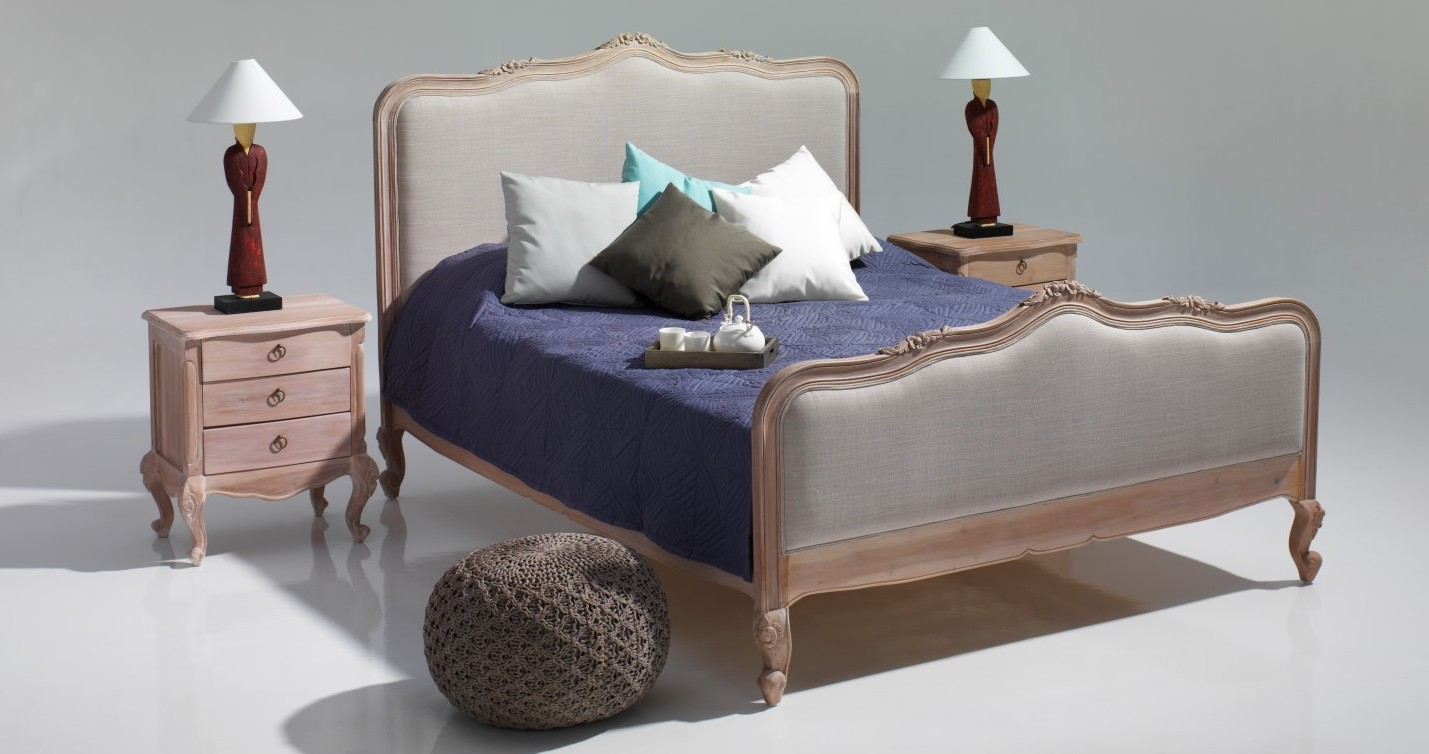 French bed Upholstered