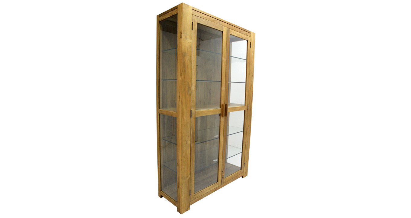 Custom made cabinet teakwood with glass for Custom built cabinets