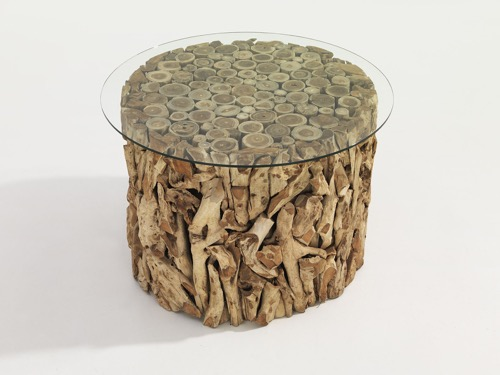 Drift wood Table with Glass