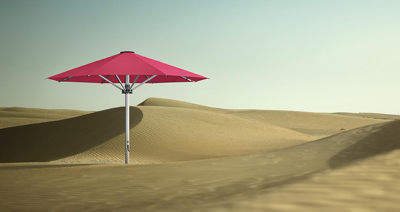 palazzo style centre pole umbrella