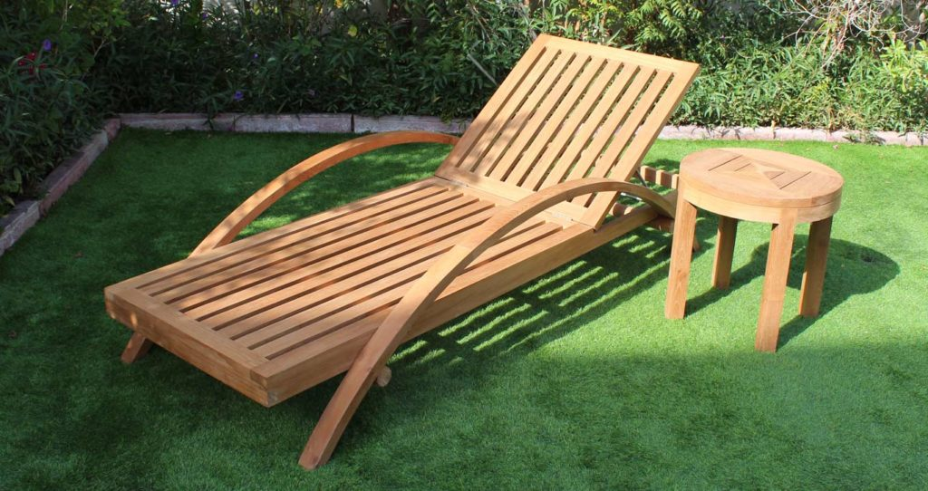 Hilton Lounger in a garden