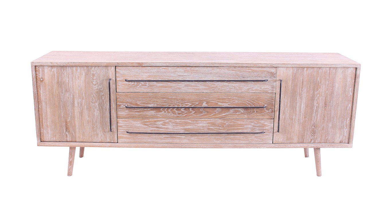 Sideboard with Metal Handles