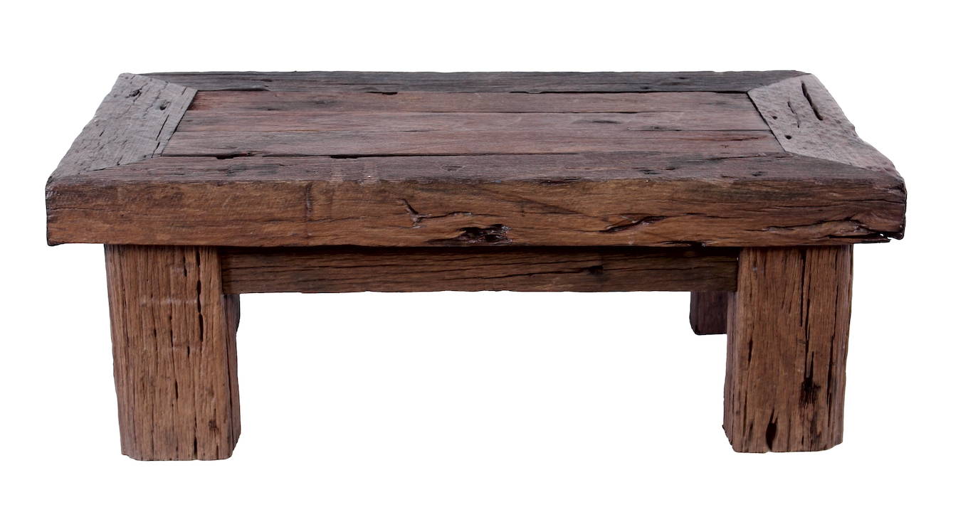 Old Wooden Table ~ Railcar coffee table by house