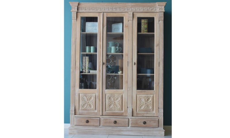 Rosa Glass Wood Cabinet