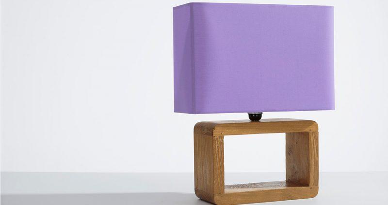 Teak Frame Lamp
