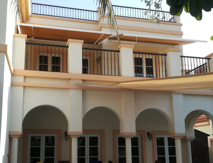 Monoblock Awning in a residential villa