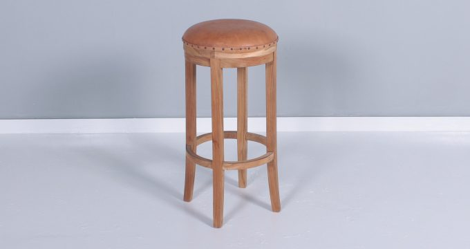 71 Beberly Bar Stool Leather Seat | Falaknaz - the Warehouse