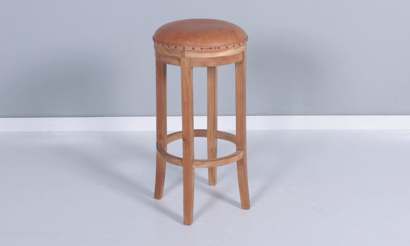 71 Beberly Bar Stool Leather Seat | Falaknaz - the Warehouse