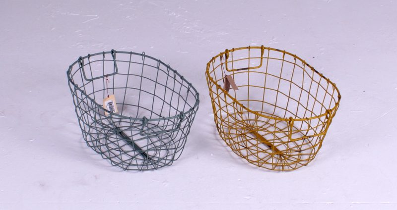 Grafton Oval Wire Basket, Antique