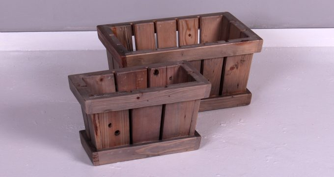 RECTANGLE WOODEN CRATE RECTYCLED PINE | Falaknaz - the Warehouse
