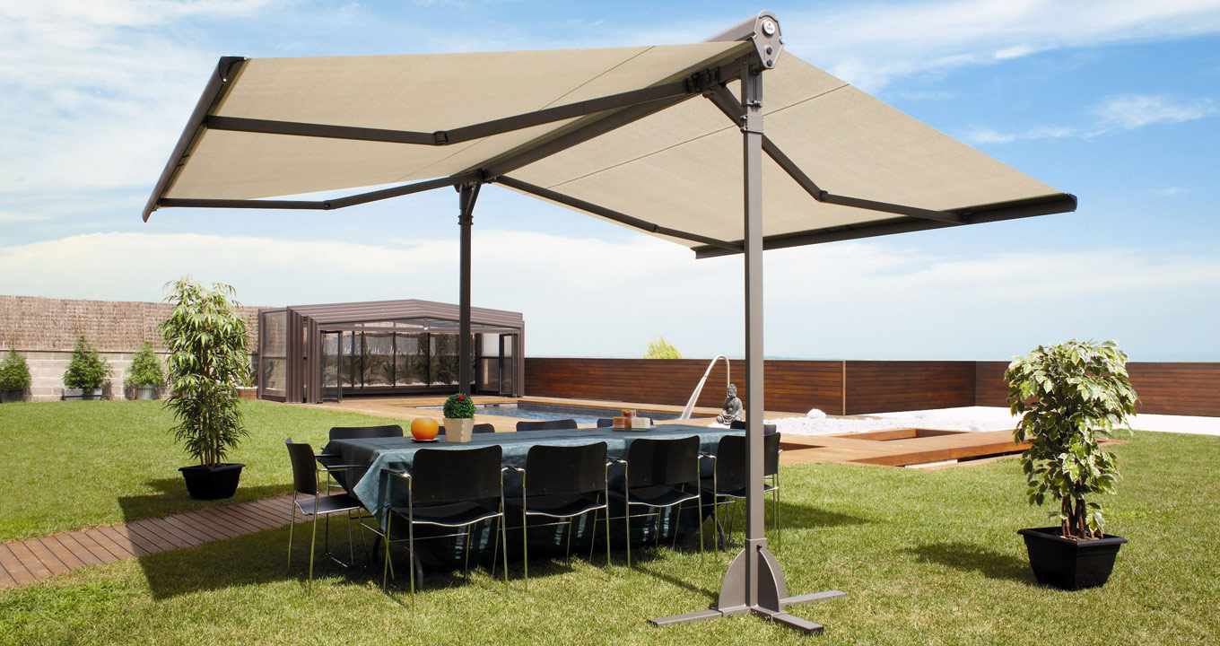 Duox Butterfly Awning System   Dubai Giant Shading System