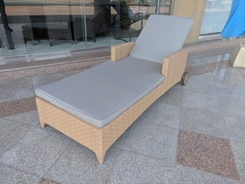 marseille sunlounger with cushion